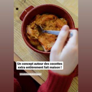 Une cocotte, plat du restaurant des Roulottes des Korrrigans